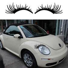 Funny Car Headlight Eyelash Sticker Eyebrow Decal for Porsche Volkswagen Beetle