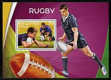MALDIVES 2016 DAN CARTER RUGBY SOUVENIR SHEET MINT NH