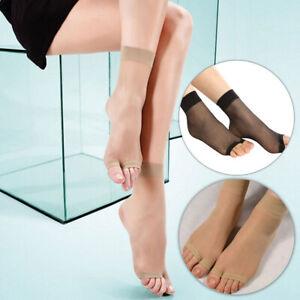 Women Ultrathin Open Toe Socks Mid-Ankle Invisible Stocking Foot Care Socks UK