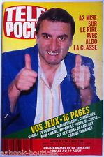 b)Télé poche 8/08/1988; Aldo Maccione/ Lesley Ann Down/ Bruce Willis/ Quinon P.