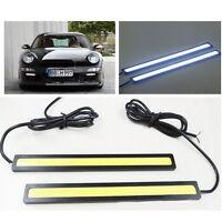 2x Wasserdicht 12V Lampe LED COB Auto DRL Fahren Tagfahrlicht Nebelscheinwerfer