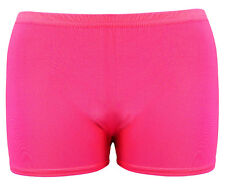 Womens Ladies Jersey UV Neon Lycra Shorts Hot Pants Dance Party Casual Club Gym