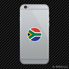 Round South African Flag Cell Phone Sticker Mobile Die Cut south africa