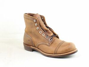 Red Wing Mens Iron Ranger Brown Work & Safety Boots Size 7.5 (1640178)