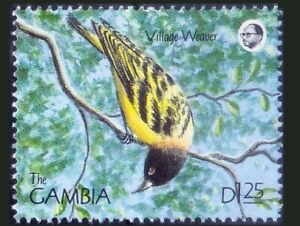 Gambia 1990 MNH, Birds, Village Weaver, spotted-backed or black-headed