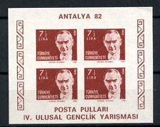 Turkey 1982 SG#MS2795 Antalya Stamp Exhibition Imperf MNH M/S #A35809
