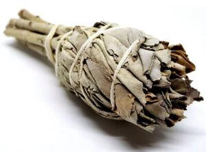 Californian White Sage Smudge Wand Stick 4 Inch Bulb Cleansing Vegan Pagan