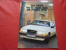VOLVO 740 GL Diesel Limousine Kombi Taxi Prospekt Brochure von 1986
