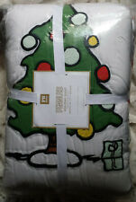 Pottery Barn Kids Peanuts Snoopy & WoodStock Twin Christmas Quilt New