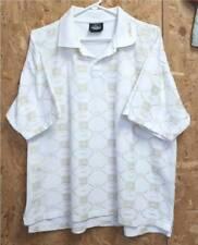 NEW! Soulland VIRGO Men's Short Sleeve POLO Shirt-White/Gold Metallic-LG/XL