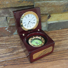Personalized Nautical Compass Clock- Fathers Gift- Grandfathers Gift