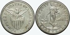 1913-S US/Philippines 20 Centavos ~ F/VF Details ~ A#11.09 ~ 75% Silver ~ MX365