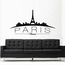 Wall Vinyl Sticker Decal Paris France Skyline Sign Quote Town City (Z3098)