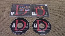 D - Horror - Panasonic 3DO Game Complete w/ 2 DISCS Tested