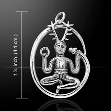 The Horned God Cernunnos .925 Sterling Silver Pendant by Peter Stone
