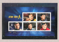 STAR TREK = 50th = Pos.3 SOUVENIR SHEET = cut from uncut press sheet Canada 2016