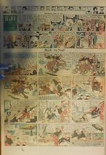 Boob McNutt Sunday by Rube Goldberg from 5/11/1930 Large Rare Full Page Size!