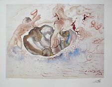 Salvador Dali SIRENS AND THE SAILOR Facsimile Signed Limited Edition Lithograph