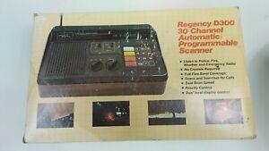 Vintage Solid State Regency D300 30 Channel Programmable Scanner Tested