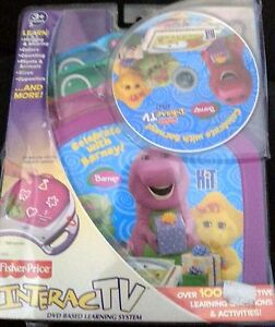 FISHER PRICE BARNEY Interactive DVD Game Gift BABY Bop GIFT Learning System NEW