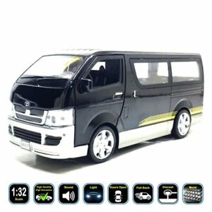 1:32 Toyota HiAce (Van) Diecast Model Car & Toy Gifts For Kids. Light Pull Back