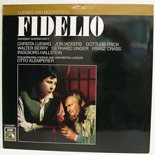 """Beethoven Fidelio LUDWIG VICKERS FRICK BERRY Unger Otto Klemperer 12 """" LP (E840)"""