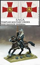 Gripping Beast Saga TEMPLAR MILITARY ORDER WAR BANNER AND BEARER 28mm SWBB06t...