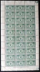 NEW HEBRIDES 1925 - 1d SG44 Complete Sheet of 30 Some Slight Splitting DH442