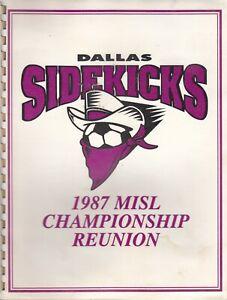 1987 DALLAS SIDEKICKS MISL Championship Program Reunion - TATU +