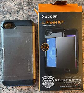 Spigen Slim Armor CS Case for iPhone 7 & 8 Gunmetal in original box 042CS20453