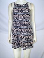 Forever 21 Black Pink Blue Sleeveless Floral Dress Juniors Size Small 3 5