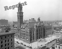 Photograph  Vintage Detroit Michigan Post Office Year 1912 8x10