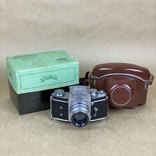 Exakta Varex VX Vintage 35mm SLR Film Camera W/ Primoplan 58mm 1:1.9 W/ Box