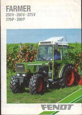 Fendt Farmer 250 V, 260 V, 275 V, 270 P and 280 P Special Tractor Brochure