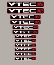 Vtec Rising Sun sticker lot de 12 autocollants