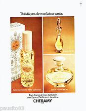 PUBLICITE ADVERTISING 096  1971   Cheramy  parfum eau toilette  Sandrine Espace