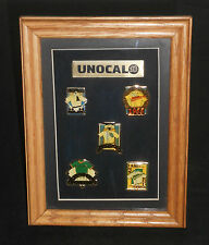 Unocal 76 Oakland Athletics Pin Set - Mounted and Framed (Free Shipping) (Rare!)