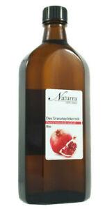 11,98€/100ml Granatapfelkernöl Bio unraffiniert kaltgepresst nativ 250ml im Glas