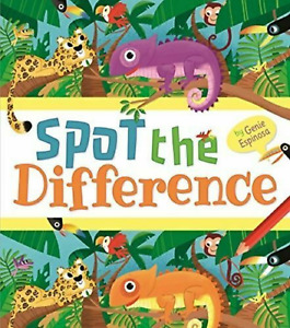 Spot the Difference Puzzle Book for Kids age 6+ A4 Paperback Book 96 Pages