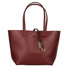 Red Leather Tote Bag - 100% Leather - Perfect for storing a laptop, tablet