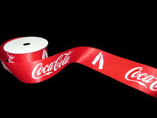 Coca-Cola Ribbon 2 Yard Spool 1.5 Inches Red with Repeating Logo and Bottles