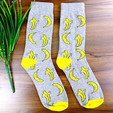1Pairs Womens Casual Dress Crescent Gray And Yellow Socks 20*22cm DWZ146