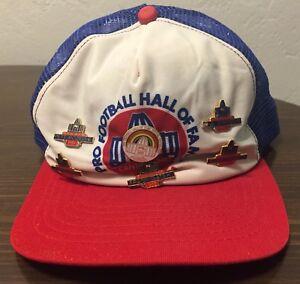 NFL Pro Football Hall of Fame Hat Snapback Cap 1985 w/ 6 Pins OJ NAMATH STAUBACH