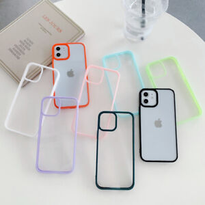 Color Bumper Clear Case For iPhone 13 12 11 Pro Max Xs X XR 8 Hybrid Hard Cover
