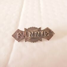 brooch, S &Co Silver fine Victorian name