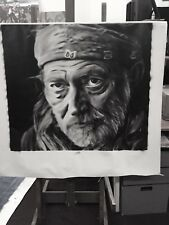 Huge Willie Nelson Painting in Artists Oils on canvas by J. BLAH
