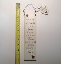 Lucky Nanas Wall Plaque Sign & Key Ring Gift Ideas for Her & Mum & Nan