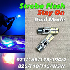 STROBE STAY Reverse Backup Light T10 T15 921 175 194 168 Blue CANBUS LED W1 A