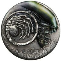 Alien 40th Anniversary 2019 2oz Silver Antiqued Coloured Coin Perth Mint