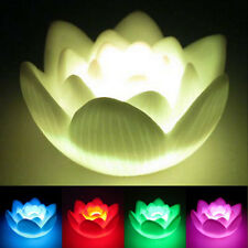 Color Changing LED Lotus Flower Love Mood Lamp Night Light Favor Decoration New.